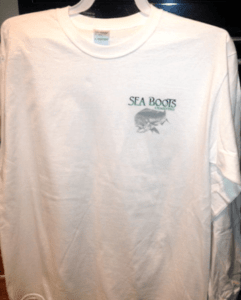 Picture of a Seaboots T-shirt for sale.